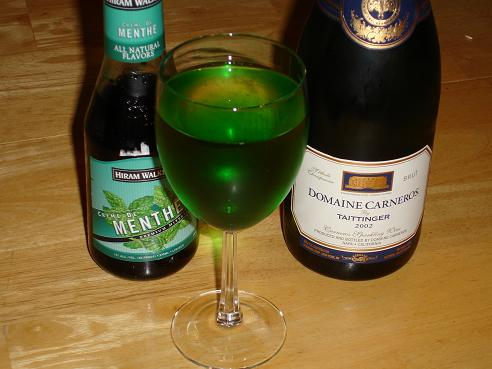 Creme de Menthe Champagne Cocktail Recipes