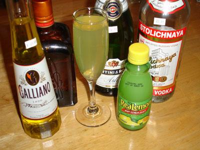 Galliano Champagne Cocktail Recipes