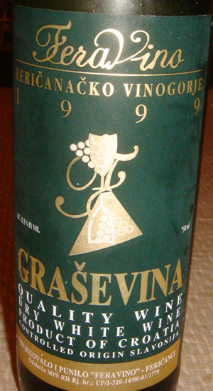 Grasevina Wine