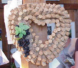 Wine Cork Heart Wreath